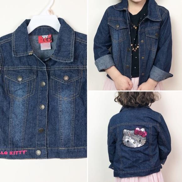 791b0bfa5 Hello Kitty Jackets & Coats | Jean Jacket With Sequins | Poshmark